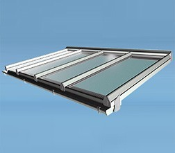 Image of a white lean to roof kit