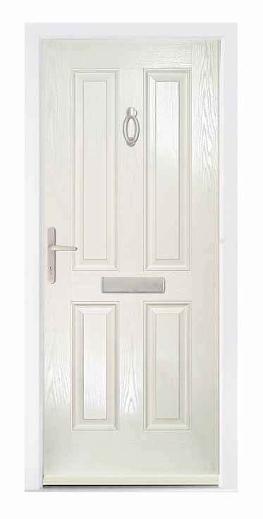 The Carsington composite door in white