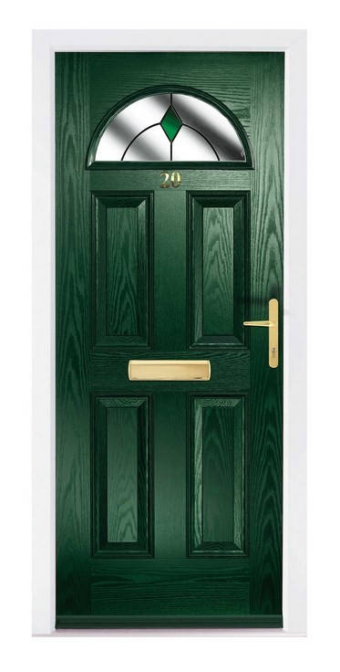 The Dove Composite door in Green