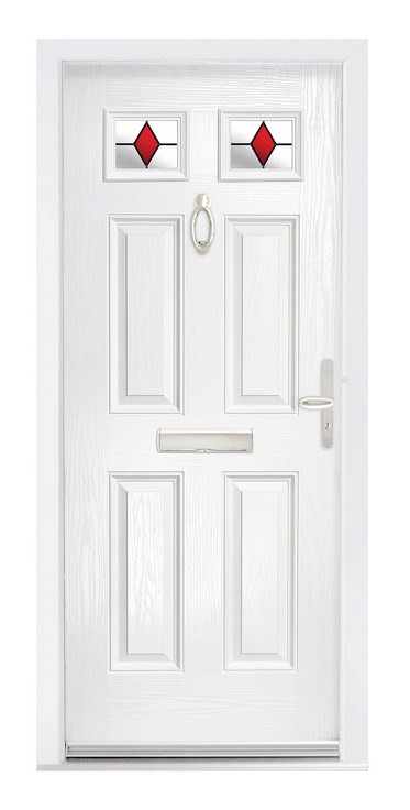 White Ecclesbourne Composite door from The Glazing Shop
