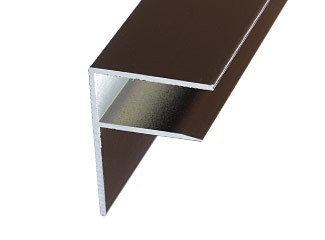 Aluminium F section for edge of roof - brown