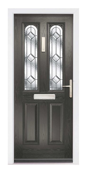 Black glazed composite door - The Glazing Shop