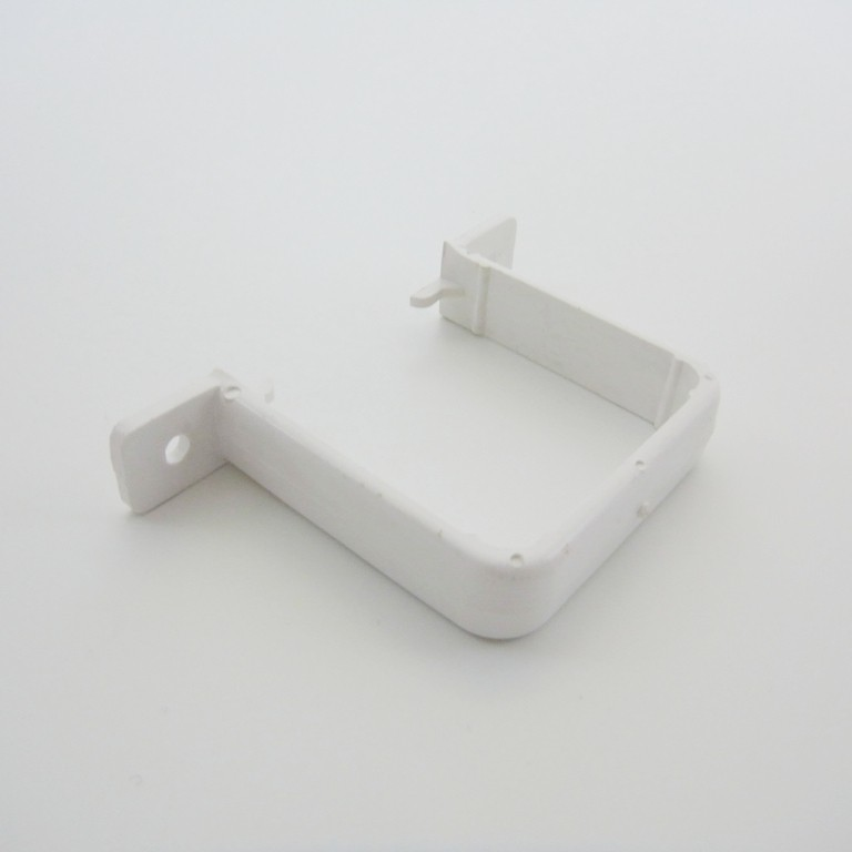 Pipe Clip Flush White