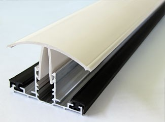 PVC capped rafter bar - white