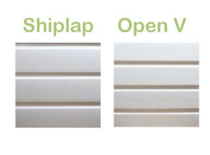 Image of Shiplap and open V cladding - The Glazing Shop