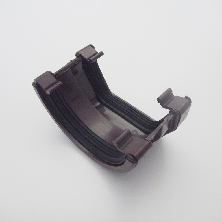 Square/Round Down Pipe Adaptor Brown