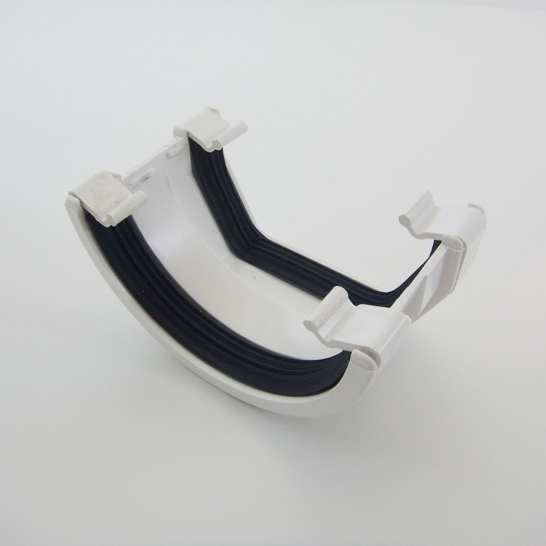 Square/Round Down Pipe Adaptor White