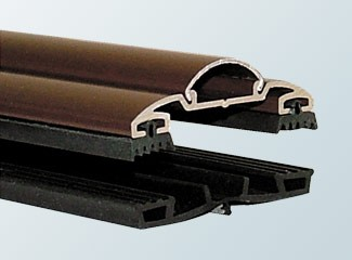 Brown aluminium capped rafter bar