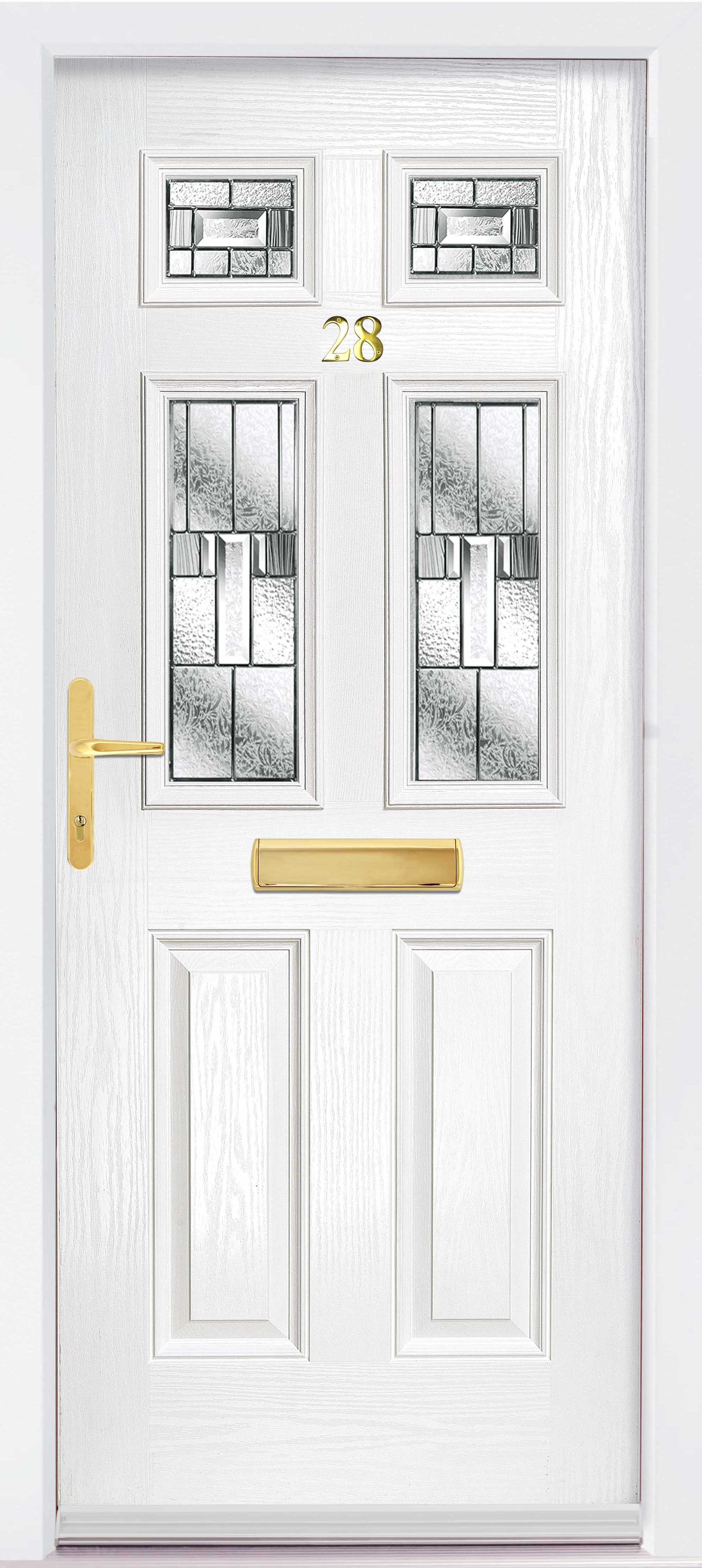 White Glazed Composite door from The Glazing Shop