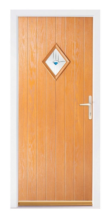 Golden Oak Composite Door - The Wye
