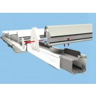 Self Support system eaves beam showing bars and gutters: The Glazing Shop