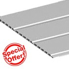 Grey Hollow Soffit - 10mm thickness (5m)